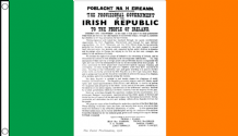 EASTER RISING PROCLAMATION - 5 X 3 FLAG
